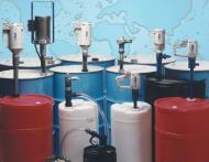 Bơm thùng phuy FTI loại động cơ khí nén , động cơ điện.