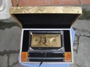 Tiền 100USD mạ vàng 24K có hộp - hàng mới về
