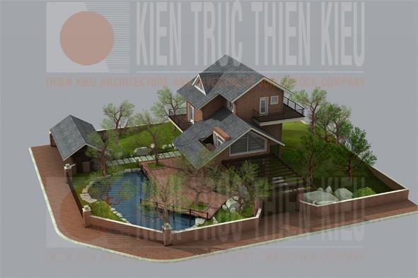 Những mẫu biệt thự nhà vườn đẹp của cty Thiên Kiều
